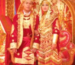 Minangkabau couple on their wedding day1