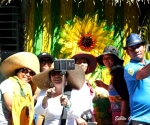 A group of Women take a group selfie in Lucban, Quezon province