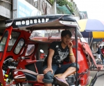 Tricycle Driver Taking A Rest, Abatan, Buguias