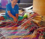 Molbog banig weaver in Palawan