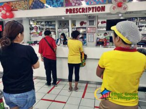 people buying medicine