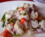 Iloilo's Kinilaw na Tanguigue (Mackerel)